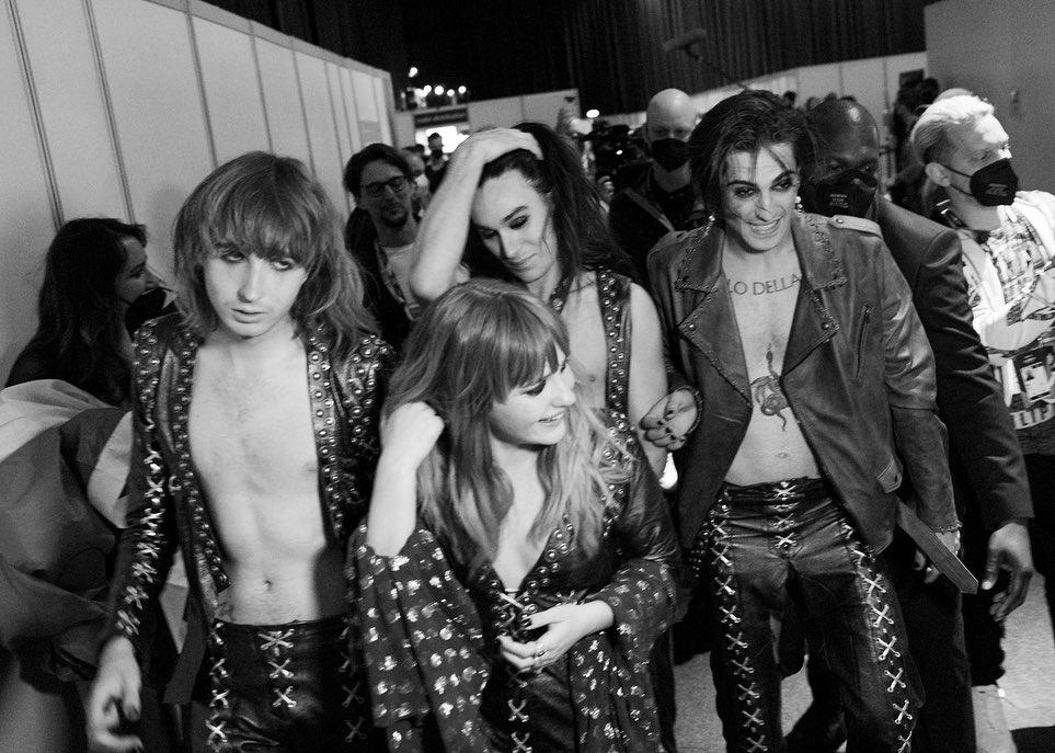 Måneskin backstage eurovision